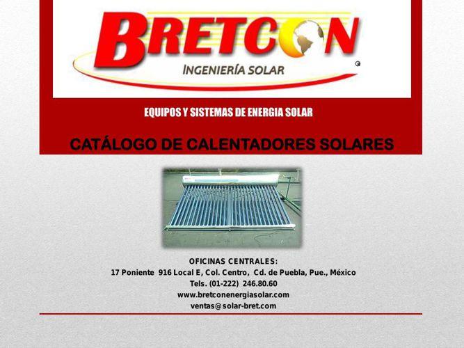 CATALOGO CALENTADORES SOLARES 2015