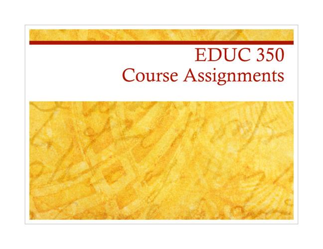 EDUC 350