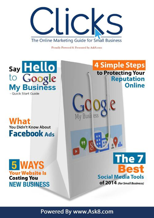 Ask8.com Clicks Small biz magazine bookshelf