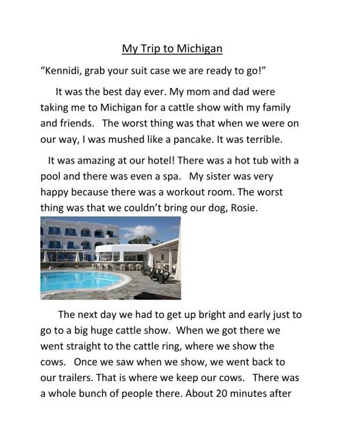 My Trip to Michigan