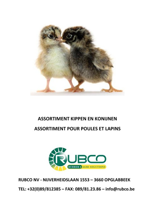 RUBCO - poultry and rabbits
