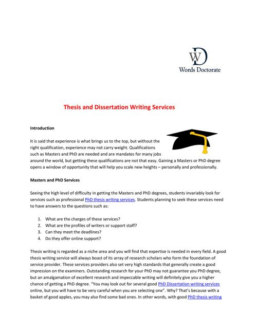 online dissertation and thesis research paper