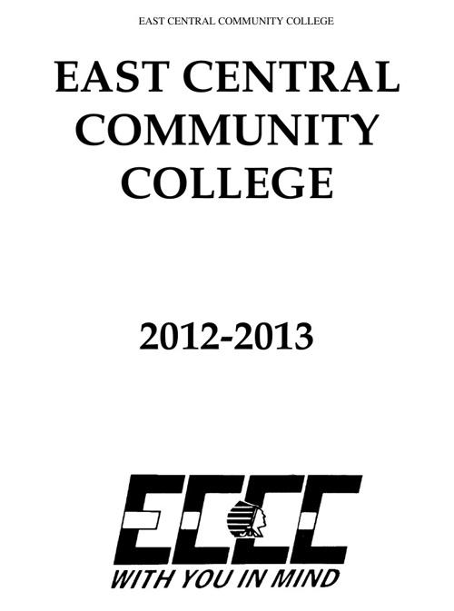 College Catalog 2012-2013