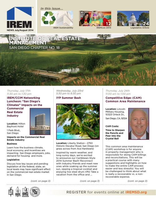 IREMSD July/August 2014 Newsletter