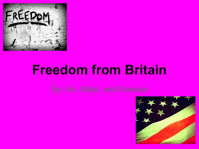 Freedom From Britain