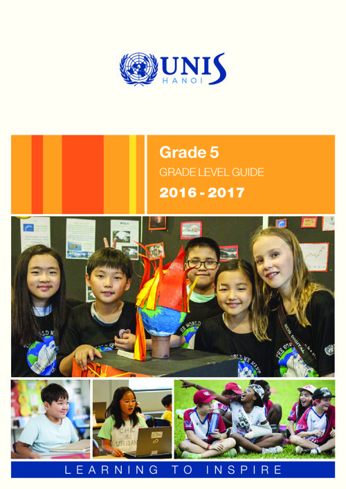 UNIS Hanoi Grade 5 Grade Level Guide 2016-2017