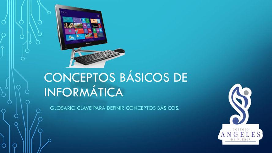 Conceptos básicos de informática