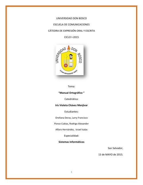Manual Orrtografico