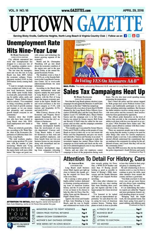 Uptown Gazette  |  April 29, 2016