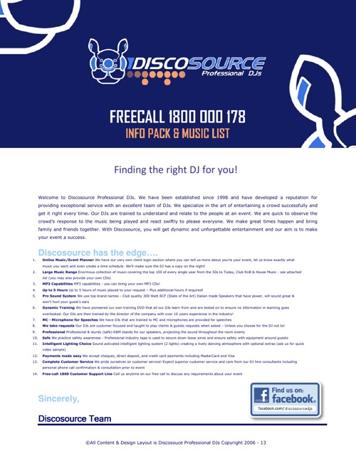 DSDJ Info Pack $395