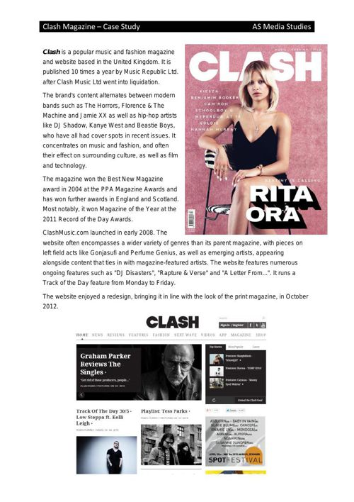 Clash Magazine case study