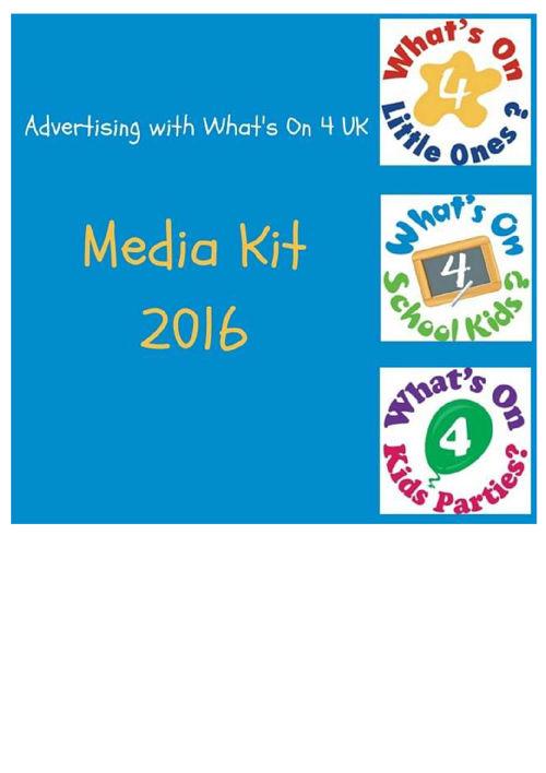 What's On 4 Juniors Media Kit 2016
