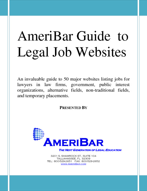 AmeriBar Guide to Legal Jobs Websites