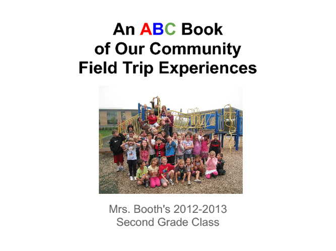 Our ABC Book of our Happy Valley Community