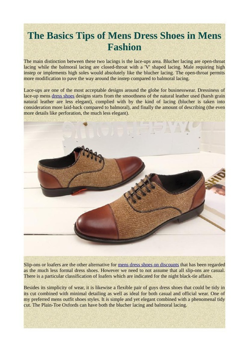 The Basics Tips of Mens Dress Shoes in Mens Fashion