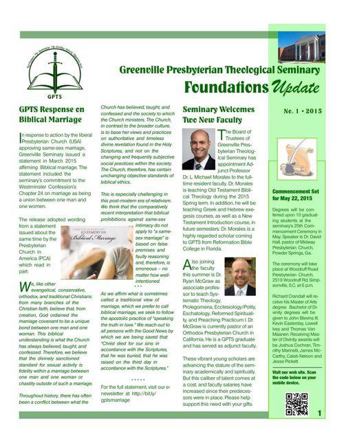 FoundationsUpdate, No. 1, 2015