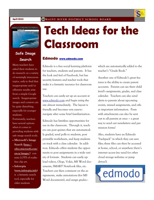 RRDSB Tech Newletter April 2013