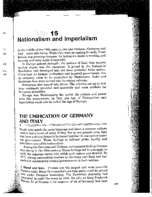 Ch. 15: Nationalism and Imperialism