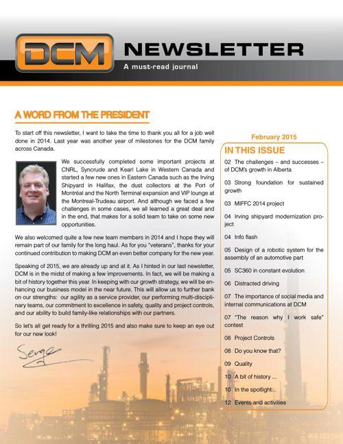 DCM February Newsletter
