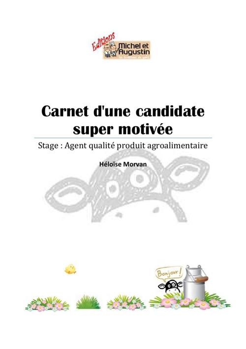 Candidature Héloise Morvan Stage qualité