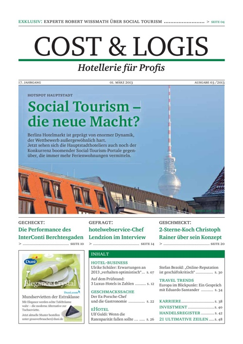 """Social Tourism - die neue Macht?"" Cost & Logis, Ausg. 03/2013"