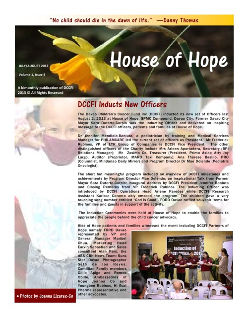 House of Hope Newsletter, Issue 4