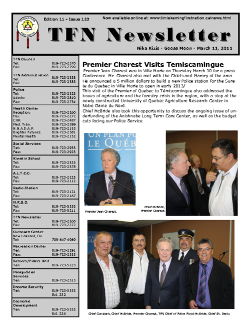 TFN Newsletter - March 11, 2011