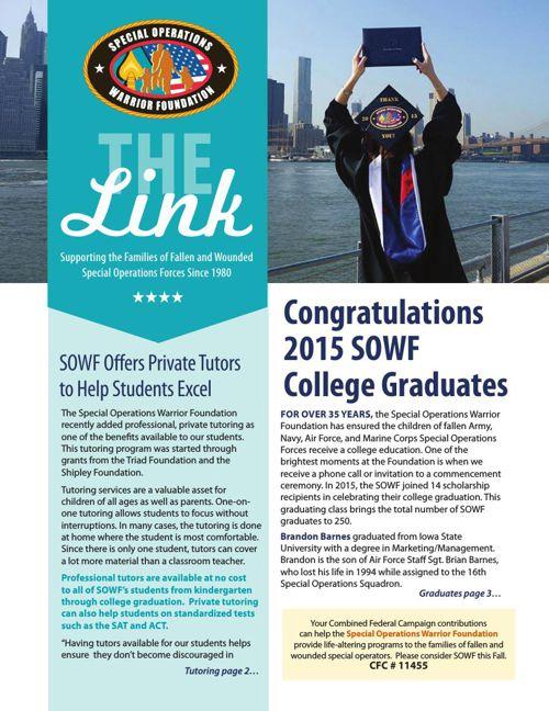 SOWF Newsletter Summer 2015