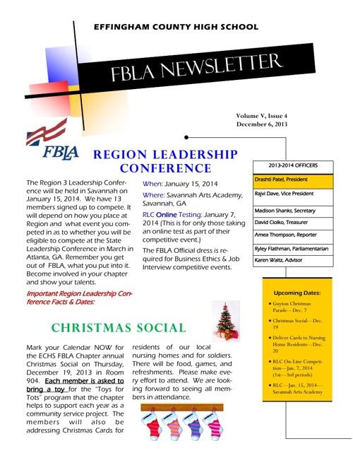 Newsletter for December