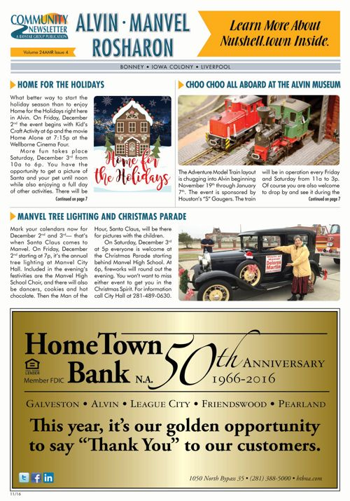 Alvin Manvel Rosharon Community News Volume 24 Issue 4