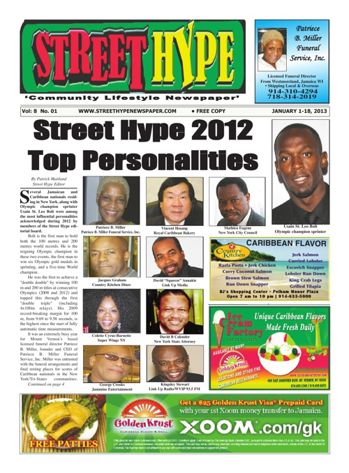 Street Hype Newspaper - January 1-18, 2013