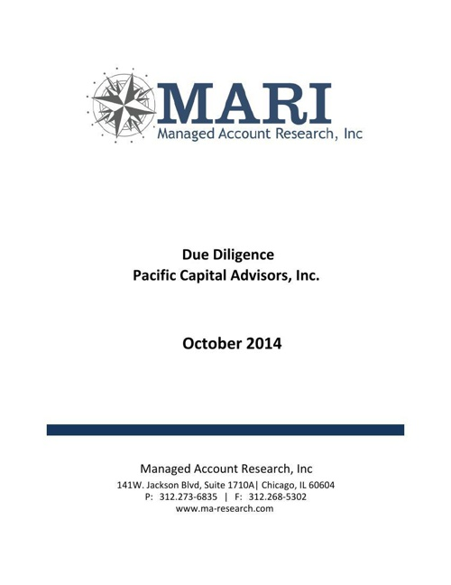 MARI Pacific Capital DD eBook Oct14