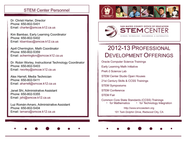 STEM Center Brochure