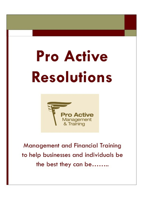 PRO ACTIVE MANAGEMENT AND TRAINING LTD  COURSE OVERVIEW