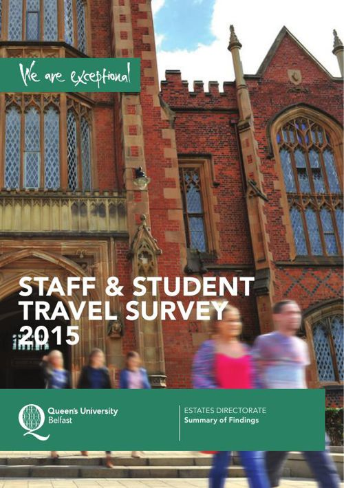 Queen's University Belfast - Staff and Student Travel Survey 201