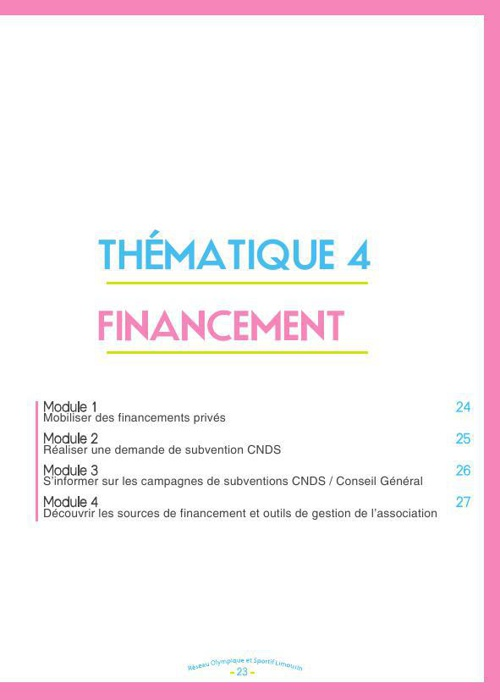 T4 Financement