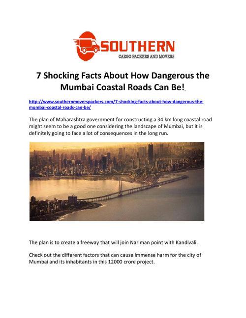 7 Shocking Facts About How Dangerous the Mumbai Coastal Road