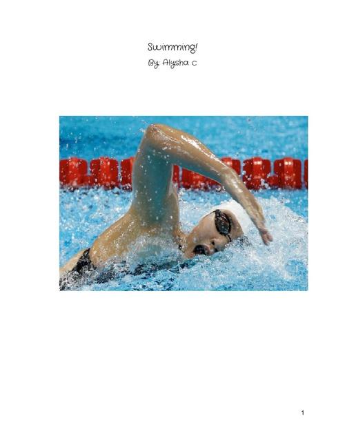 Swimming - Alysha