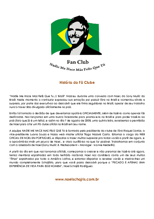 Noel Schajris BR Histórico