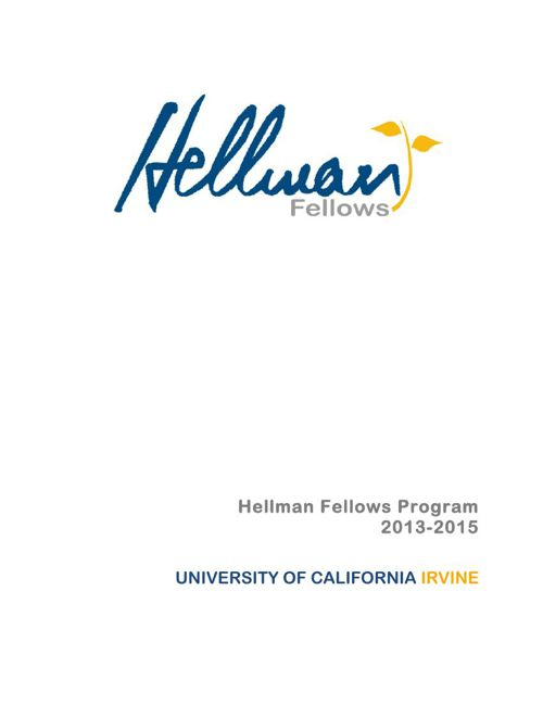 2015 UC Irvine awardees booklet