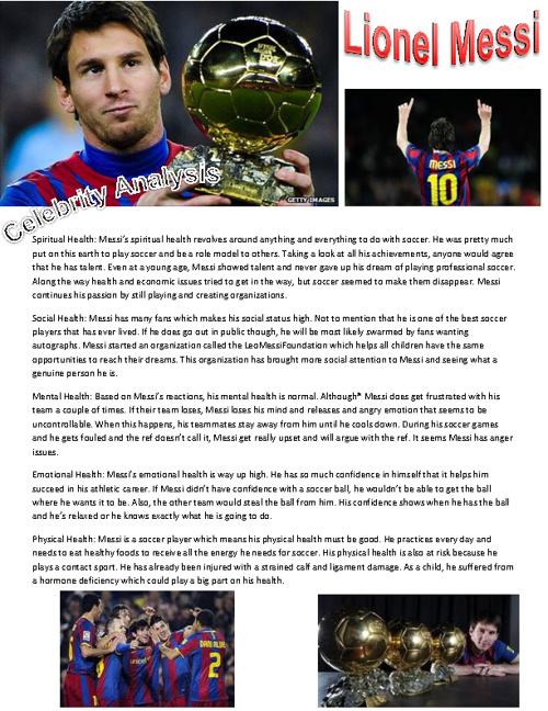 Celebrity Analysis- Lionel Messi
