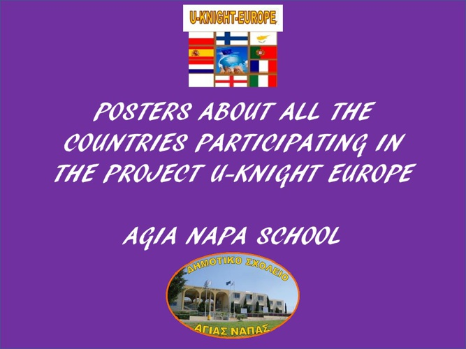 POSTERS ABOUT ALL THE COUNTRIES PARTICIPATING IN THE PROJECT