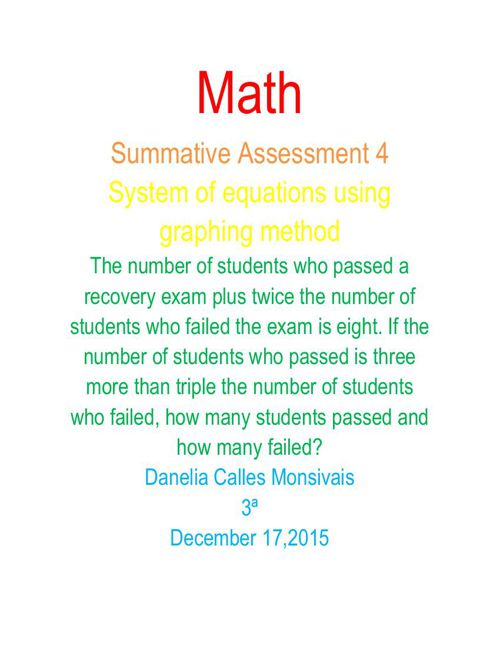 Summative Assessment 4