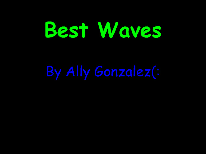 selling waves project
