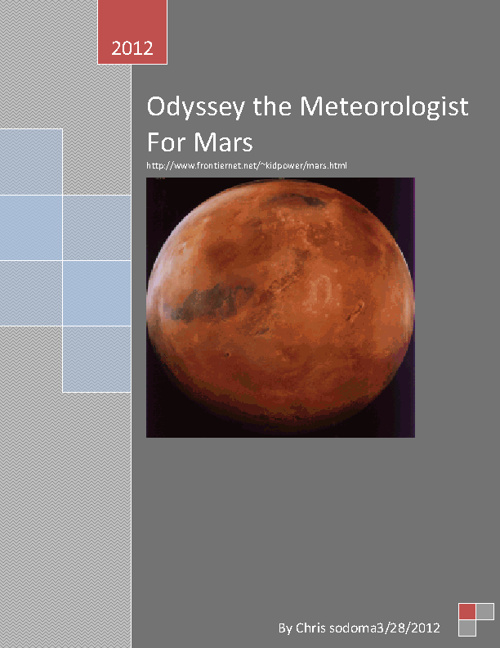 mars odyssey the meteoroligist of mars
