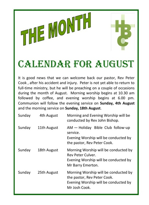 The Month August 2013