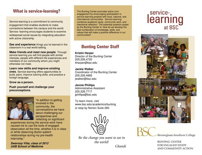 Bunting Center for Engaged Study and Community Action