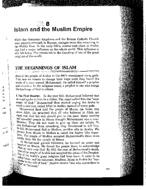 Chapter 8: Islam and Muslim Empire