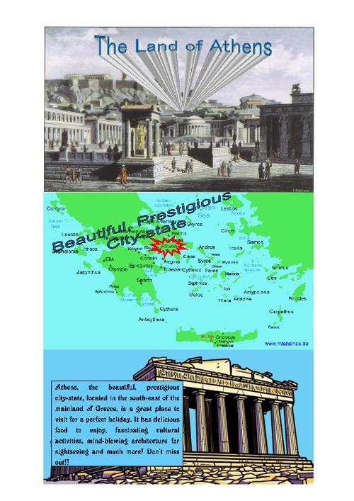 Athens travel brochure