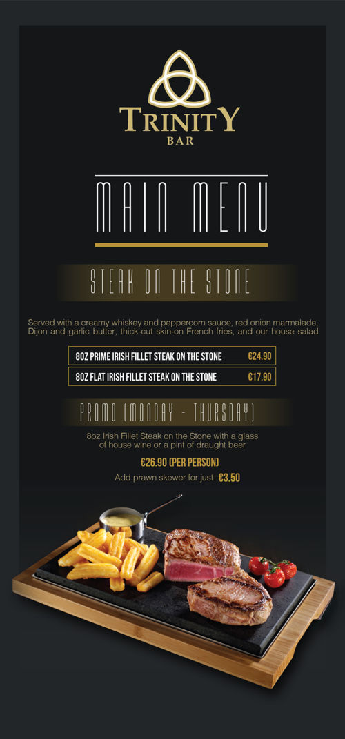 Trinity Bar Web Menu